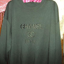 Vintage Chanel Black Crewneck Sweatshirt  Photo