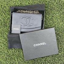 Vintage Chanel Black Leather Wallet on Chain Bag Photo