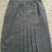 Vintage Chanel Grey Wool Skirt Size 38 Photo
