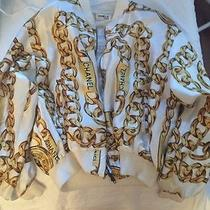 Vintage Chanel Silk Chain Bomber Jacket Photo
