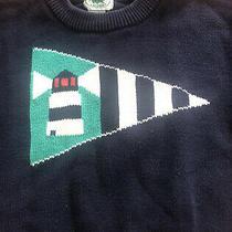 Vintage Chemise Lacoste Navy Knit Lighthouse Sweater (Youth/kids Size 6) Photo