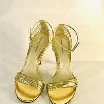 Vintage Chinese Laundry Willy High Heel Strappy Shoes Metallic Gold Size 7.5 Photo