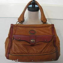 Vintage Chloe Kisslock Shoulder Leather Cognac Bag Photo