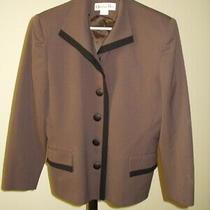 Vintage Christian Dior 100% Wool Blazer Jacket - Brown & Black - Flaws - Size 12 Photo