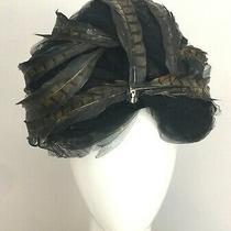Vintage Christian Dior 1960's Fascinator Chapeaux Paris-New York Feather Hat  Photo