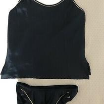 Vintage Christian Dior (2 Piece) Intimate Camisolepanty Blue White Twin Photo