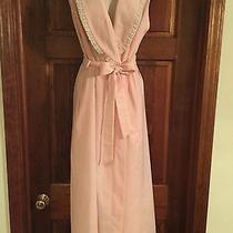 Vintage Christian Dior 70s Pink Lounge Robe With Lace Trim Small Unique Rare Photo