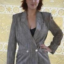 Vintage Christian Dior Abalone / Mother Pearl Button Tweed  Blazer Jacket  8 Euc Photo