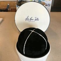Vintage Christian Dior Black Fur(felt) and White Leather Hat 22 Photo
