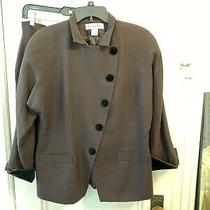 Vintage Christian Dior Brown Jacket W/blk Velvet Trim/buttons Lg Sleeve Sz 12/14 Photo