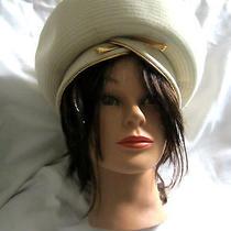 Vintage Christian Dior Chapeaux Paris-New York Ivory  Hat  Made Usa Et096087 Photo