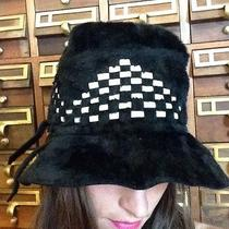 Vintage Christian Dior Chapeux Cloche Brim Geometric Hat Cap Women Italy Duchess Photo