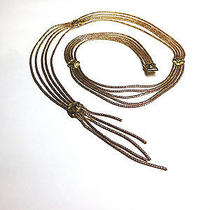 Vintage Christian Dior Gold Chain Link Alhambra Stations Tiered Belt/necklace S Photo