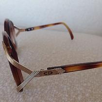 Vintage Christian Dior Gold Tone and Tortoise Sunglasses Boho Modern Glasses Photo