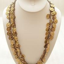 Vintage Christian Dior Gold Tone Metal Chain Link Coin Charm Hook Necklace Belt Photo