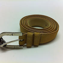 Vintage Christian Dior Ladies Belt Size 34 Style 8349 Tan Suede Silver Buckle  Photo