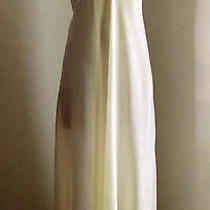 Vintage Christian Dior Lingerie 70's Cream Ivory Long Satin Nightgown Gown Sz L Photo