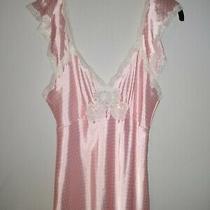 Vintage Christian Dior Lingerie Polka Dot Full Length Night Gown Ilgwu Usa Sz M Photo