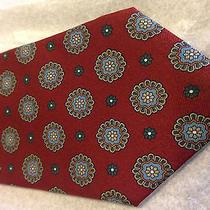 Vintage Christian Dior Maroon Tie & Floral Pattern Rare Unique Designer 57