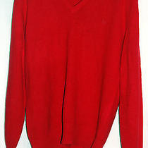 Vintage Christian Dior Men's Red Sweater Large Pull Over 1970's  Photo
