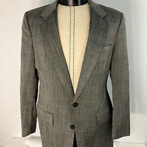 Vintage Christian Dior Mens Two Button Single Vent Gray Silver Blazer Size 40 Photo