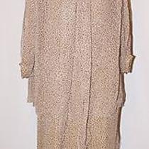 Vintage Christian Dior Pret-a-Porter Tan Silk Polka Dot Dress Top Set Xs Photo