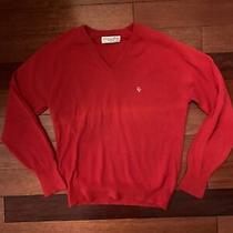 Vintage Christian Dior Red v-Neck Sweater Medium 100% Orion Acrylic Usa Photo