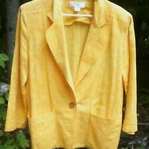 Vintage Christian Dior Separates Women's Blazer Jacket Yellow Single Button L Photo