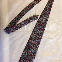 Vintage Christian Dior Tie Rare Unique Floral Multi-Color Designer 57 Inches  Photo