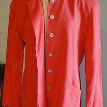 Vintage Christian Dior Tomato Red Blazer the Suit Mother of Pearl Medium 10 12 L Photo