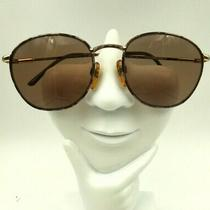 Vintage Christie Brinkley Fashion Plate Brown Gold Oval Sunglasses Frames Only Photo