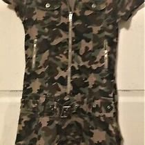 Vintage Christie Brooks Girl's Size 12 Camouflage Dress in Excellent Condition Photo