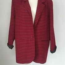 Vintage Christy Girl Black Red Plaid Blazer Size 16 Jacket Made in  Usa Photo