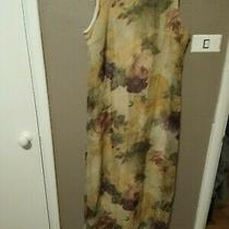 Vintage Christy Lyn Multi-Color Floral Romantic Long Dress Size 9/10 Sleeveless Photo