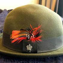 Vintage Christys' Crown Series Bowler Round Fedora Unisex Grunge Steam Punk Hat Photo