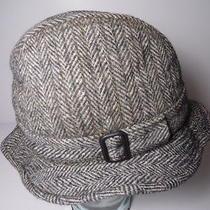 Vintage Christys London Made in England Bucket Hat Herringbone Tweed Dress Cap Photo