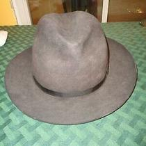 Vintage Christys London Worth Felt Men's Hat Size 7 3/8 59 Brown Gray Fedora  Photo