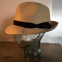 Vintage Christys' of London Mens Straw Snap Panama Hat 7.25  Trilby 1980s Photo