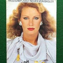 Vintage Clothing catalog.basler. 1980s Photo