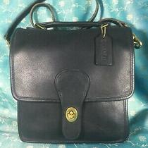 Vintage Coach 0686-226 Shoulder Bag Purse Handbag Black  Leather  Photo