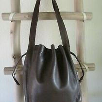 Vintage Coach 4180 Lexington Brown Glove Leather Drawsting Bucket Bag Italy Photo