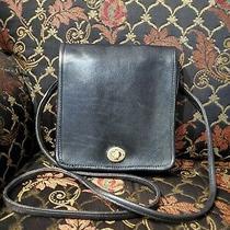 Vintage Coach 4547  Black Leather Cross Body Messenger Bag Purse  Photo