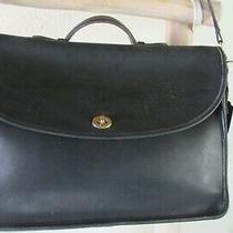 Vintage Coach 5265 Lexington Black Leather Briefcase/ Shoulder/x-Body Bag Usa Photo