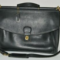 Vintage Coach 5266 Beekman Messenger Bag / Briefcase Black Glove Leather Usa Photo