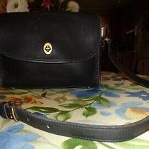 Vintage Coach 9022 Metropolis Black Glove Leather Crossbody/ Shoulder Handbag  Photo