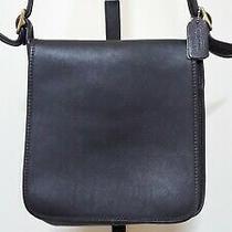 Vintage Coach 9144 Black Leather Legacy Studio Flap Purse Crossbody Shoulder Bag Photo