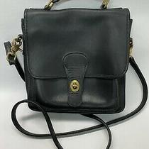 Vintage Coach  9180 Black Purse Turn Lock Flap Crossbody Messenger Photo