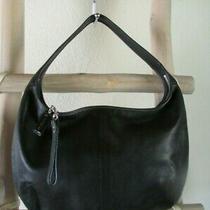 Vintage Coach 9221 Ergo Black Leather Slim Zip Medium Shoulder Hobo Bag Photo