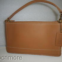 Vintage Coach 9311 Camel Leather Bleeker Baguette  Demi Pochette  Wristlet Photo
