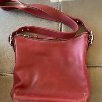 Vintage Coach 9326 Leather Hobo Bag - Red Photo
